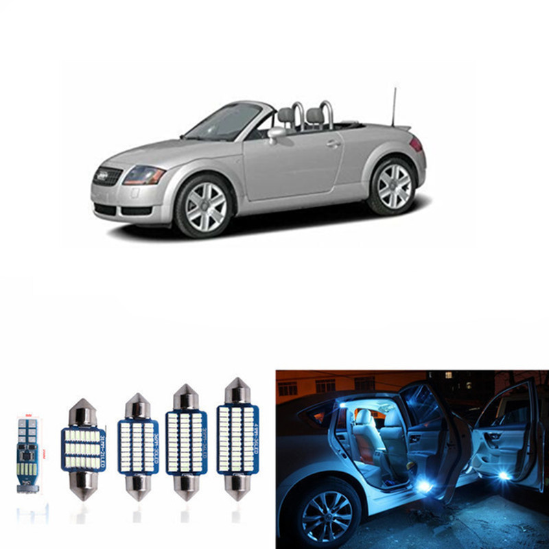14pc Canbus Car Interior LED Light Bulbs Kit For 2000-2006 Audi TT MK1 White Led Map Dome Step License plate light Lamp white 15pc x 100% canbus led lamp interior map dome reading light kit package for audi a4 s4 b8 saloon sedan only 2009 2015