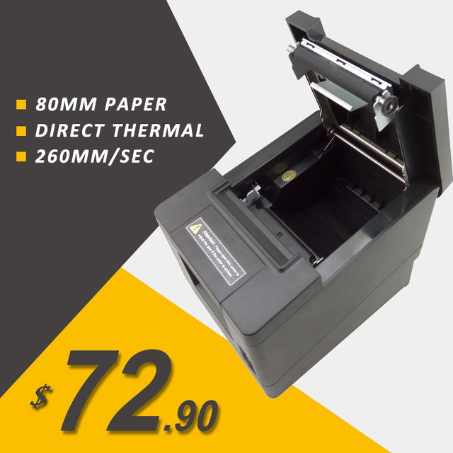 260mm/s printing speed USB+Serial port thermal print support POS cash drawer driver 80mm thermal receipt printer