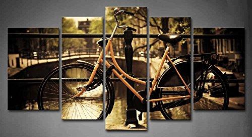 pintura de la lona new pared unidsset amsterdam holanda romntico puente canal retro