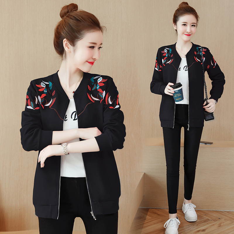 Big Size Bomber   Jacket   Women Long Sleeve   Basic   Coats Fashion spring autumn female casual solid zipper Loose Outerwear   Jackets
