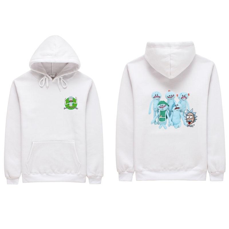 2018 Summer Anime Hoodie Peace among worlds folk White Fitness Cartoon Hoodie Cool Rick Morty men women Hoodies S-2XL