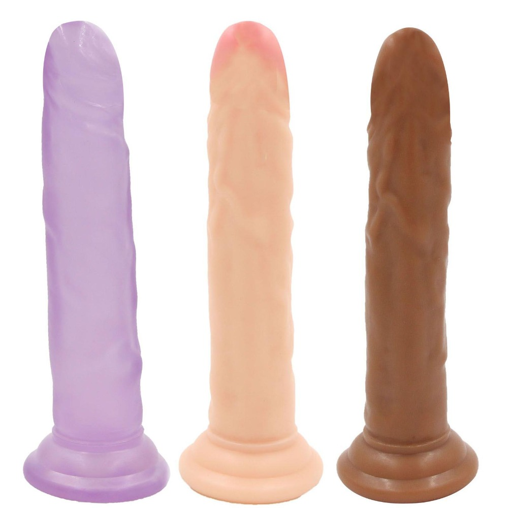 YEMA 7.28 inch Big Dildo Realistic Penis Dick Cock Flexible Dildos With Strong Suction Cup Toys For Adults Sex Toys For Woman flexible huge dildo realistic penis large dick cock big dildos with strong suction cup adult sex toys for woman couples sex shop