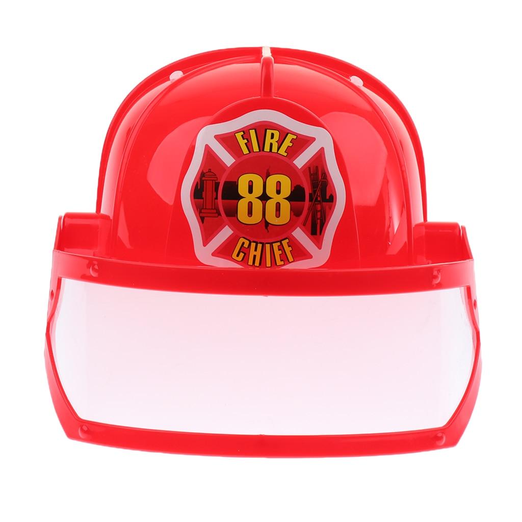 Size Pvc Fireman Red Pvc Fireman Helmet Hat For Fancy Dress Costumes Outfits