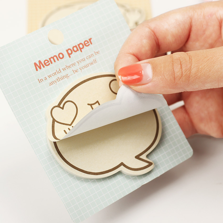 1PC Cute Big Face N Times Sticky Notes Memo Pad Paper Sticker  Notepad Gift Stationery Escolar