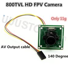HD 800TVL 140 Degree 3.6MM Mini SONY CCD LENS FPV Camera For RC Quadcopter  QAV250 Helicopter DJI phantom 2 FPV Photography