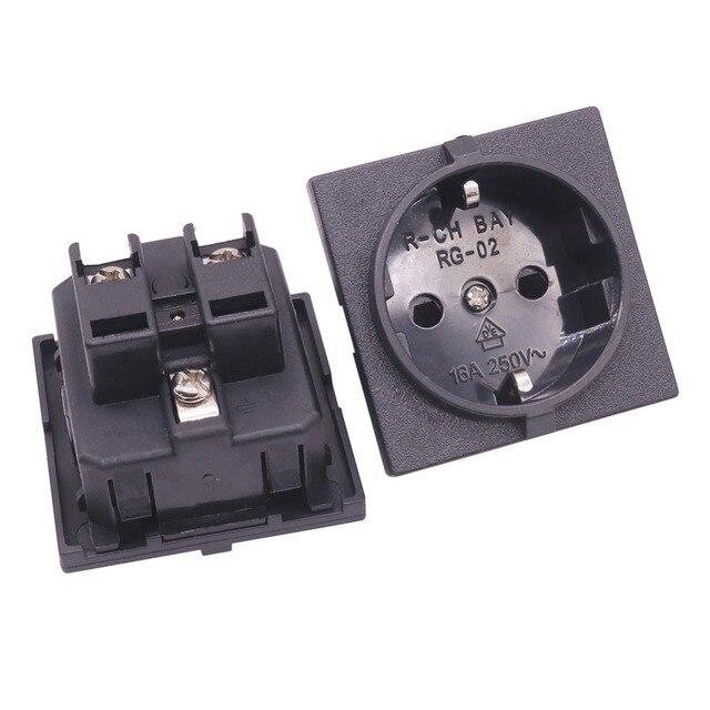 QUALITY PICKS 2 Pcs Power Wiring Socket 16a AC 220/250V European ...