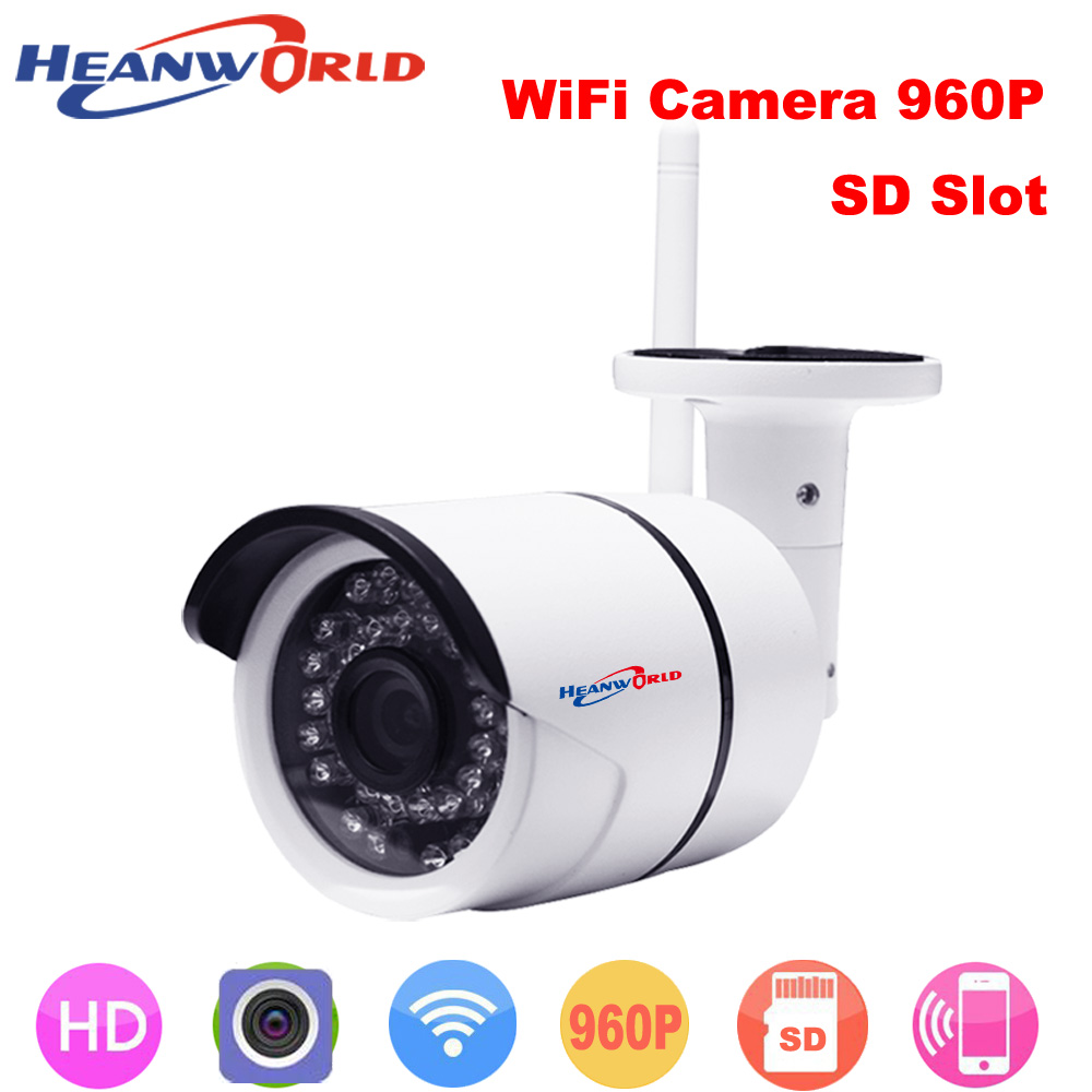 960P 1.3MP outdoor Wireless Mini Wifi IP camera support micro SD card CCTV Webcam Network Surveillance Security Camera outdoor wistino 1080p 960p wifi bullet ip camera yoosee outdoor street waterproof cctv wireless network surverillance support onvif