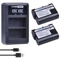 2 pièces EN-EL15 EN EL15 ENEL15 Li-ion Batterie + LED Chargeur Double USB pour Nikon D600 D610 D600E D800 D800E D810 D7000 D7100, D7200