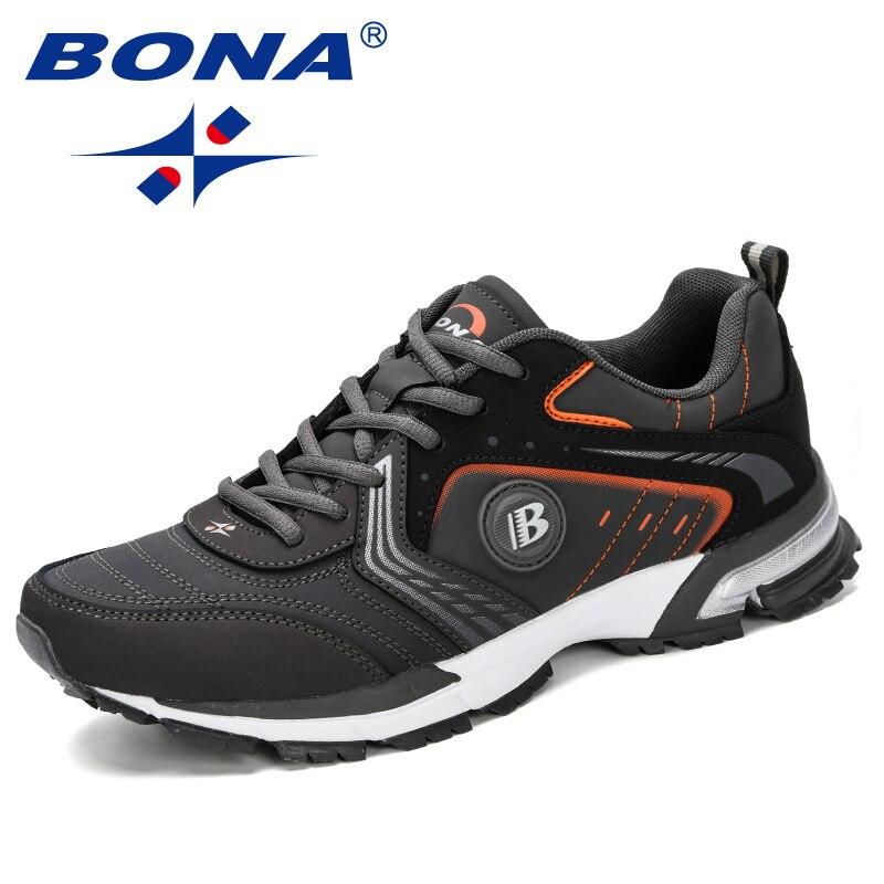 BONA 2019 chaussures de course hommes mode extérieur léger respirant baskets homme à lacets sport marche Jogging chaussures homme confortable