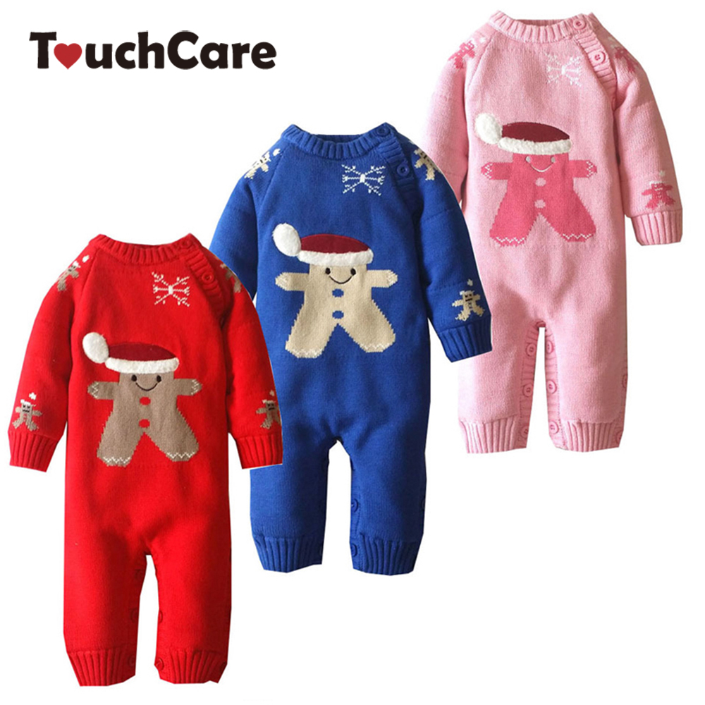 Newborn Winter Cotton Cartoon Christmas Baby Rompers Todder Cute Long Sleeve Baby Boy Girl Jumpsuit Fleece Ropa Bebes Costume