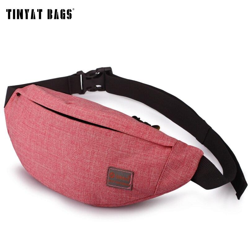 tinyat-casual-men-fanny-bag-women-shoulder-waist-pack-bag-pouch-travel-hip-bum-bag-canvas-belt-bag-fit-622-inch-phone-t201-red