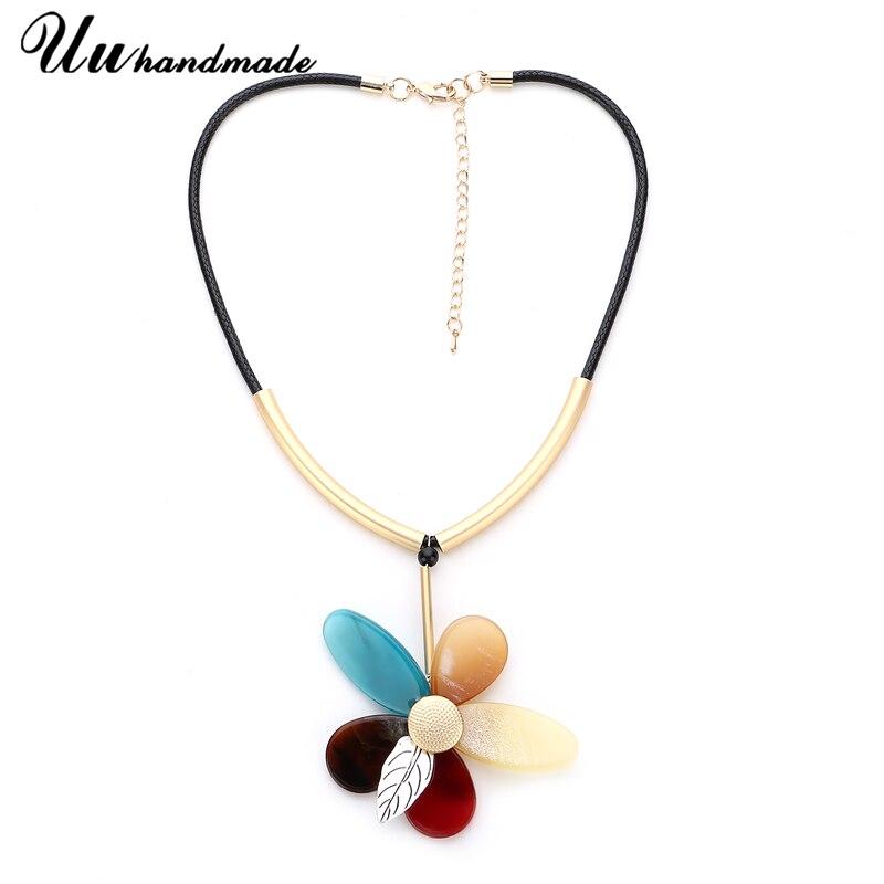 Statement Necklaces Flower Necklace Pendant boho vintage For Women Colar Choker kolye Steampunk Pingente fashion Jewelry chocker