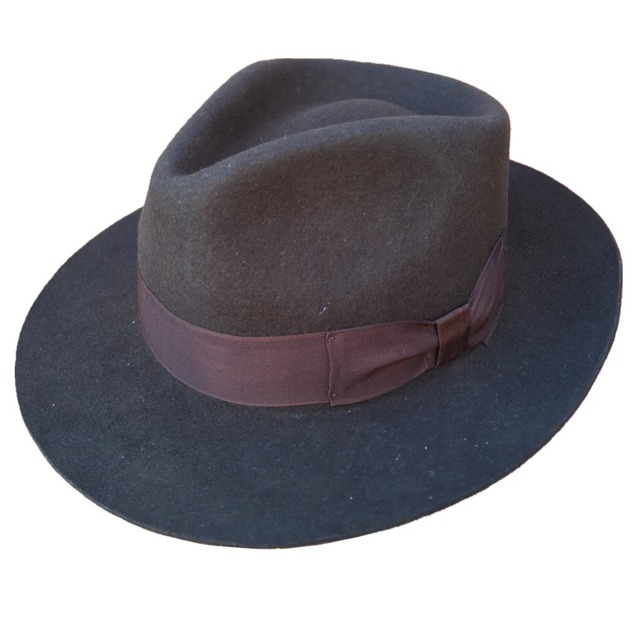 Classic Dark Brown Men s Wool Felt Godfather Fedora Hat - Gangster Mobster  Michael Jackson Gentleman Hat 36478e1dc01