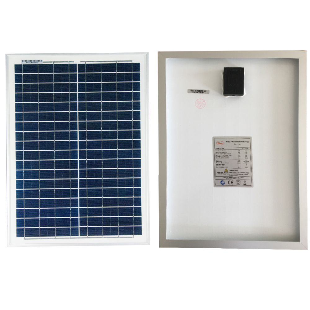Renepv 20W polycrystalline solar panels 18V for 12V battery power charging panel for off-grid applications renepv 20w polycrystalline solar panels 18v for 12v battery power charging kit