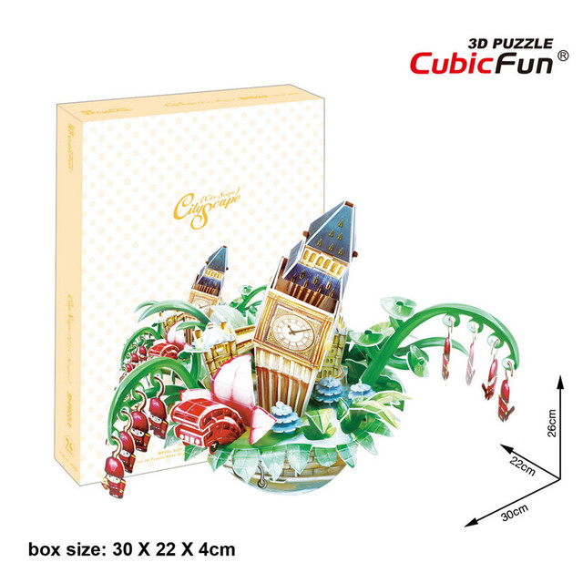 Cubicfun 3D Puzzle OC3201 Lodon City Scape Model Lodon City Architectural Features Flavor Puzzle 3D Kids Toys Christmas Gift Toy