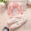 2016 Осень и зима девочка Установленные одежды высокого качества Хлопка 100% Костюмы Младенца новорожденного мальчика одежда для новорожденных девочек комплект одежды