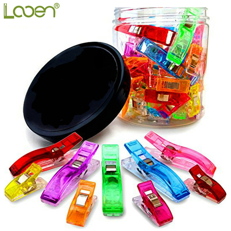 Looen Brand 100pcs Clipping Clips / Quilt tools / Patchwork Costura Accesorio Plastic Wonder Clips Pinzas Tela Craft Sewing Holder