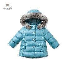 DB2790 дэйв белла зима детские пальто детские синий ватник девушки белая утка вниз перо пальто девушки синий пиджак