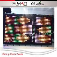 Portable led video curtain led wedding backdrop DMX controll for stage decoration
