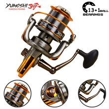 Yumoshi 8000-9000 metal 13+1BB Spinning Fishing Reels One Way Clutch Fishing Reel Carretilha de pesca molinete Feeder troll Reel