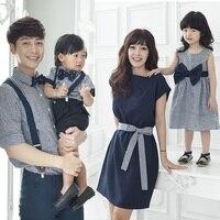 Mother Daughter Dresses Gia Đình Look Mẹ và Con Gái Bé Kids cha và Con Trai Quần Áo Phù Hợp Trai T Shirt Anh Quý Ông phong cách