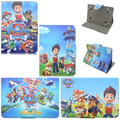 Cute Cartoon Dog Paw Patrol PU Leather Stand Cover Case Universal 7 inch Tablet Case Cover Funda Coque Capa For Kids Boy Gift