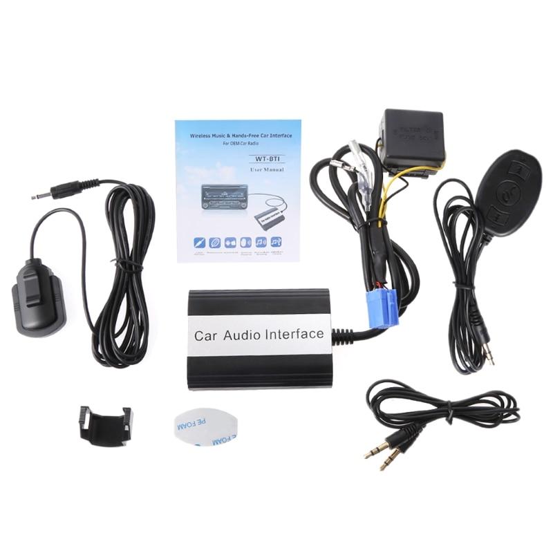 Livraison gratuite kit mains libres Bluetooth pour voiture Interface adaptateur MP3 AUX pour Fiat pour Alfa Romeo