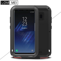 LOVE MEI For Samsung Galaxy S8 Aluminum Metal Case Shockproof Rugged Armor Cases For S8 Plus