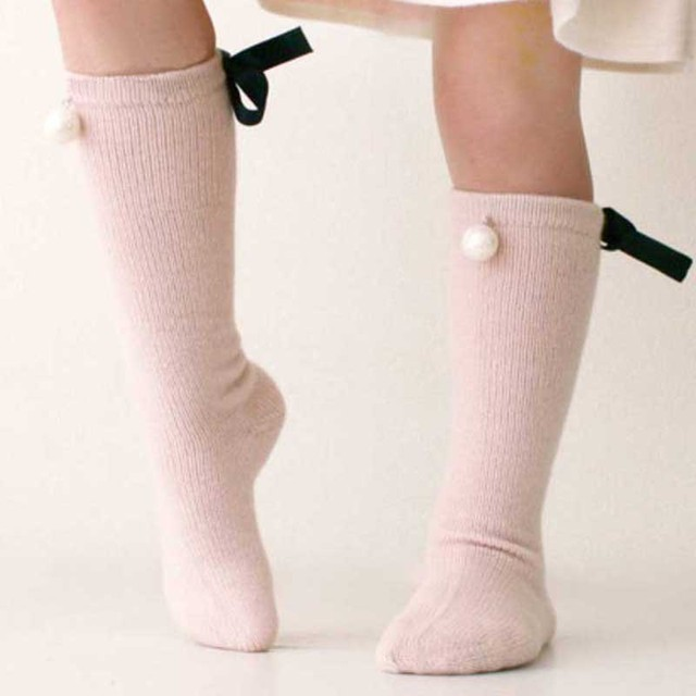 Women Girls Soft Cotton Ankle Length Socks with Bow
