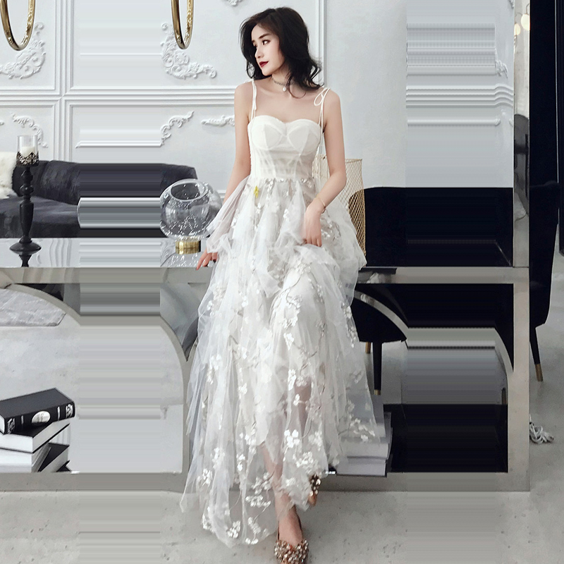 Evening Dress Sling Sweetheart Robe De Soiree Backless Women Party Dresses 2019 Plus Size Sleeveless Zipper Formal Gowns E699