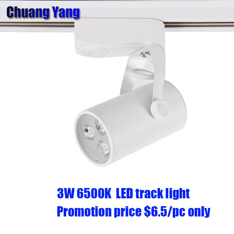 3W LED Track Light,Rail connectors,  lighting fixtures aluminum 2-wire for led track light lamps