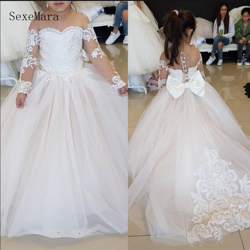Beautiful Ball Gowns For Little Princess Best   Flower     Girl     Dress   For Wedding Pageant Gowns Customized First Communion Gowns