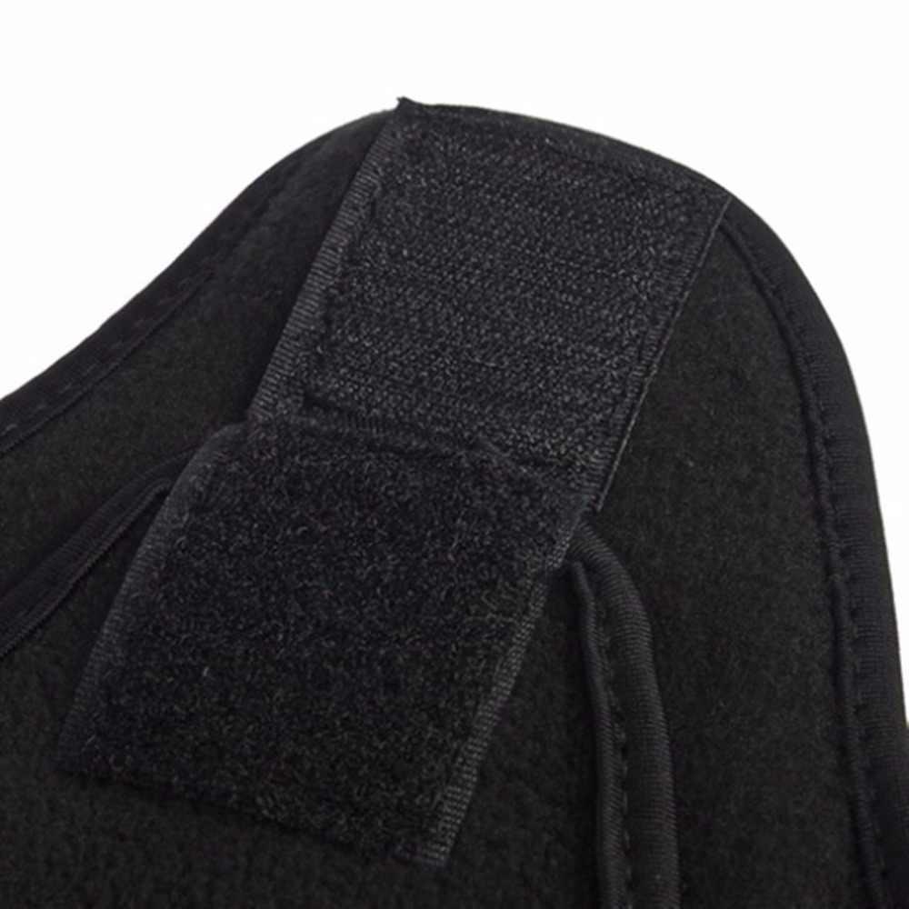 الرياح سدادة قناع الوجه الحراري الصوف بالاكلافا قبعة هود 6 في 1 تزلج الرقبة أدفأ الشتاء الصوف قناع أسود
