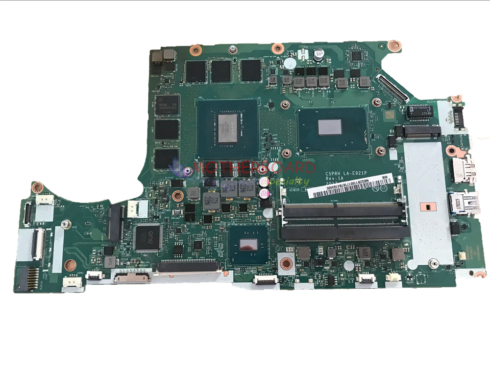 SHELI FOR Acer Predator Helios 300 G3 571 Laptop motherboard SR32Q I7 7700HQ CPU AND GTX 1060