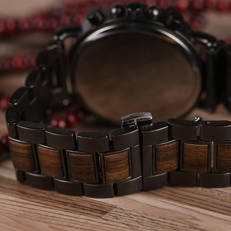 Drewniany zegarek Bobo Bird Max Dark Q26-1 pasek