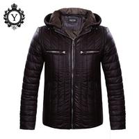 COUTUDI מפעל מכירת גברים מעיל החורף 2017 אופנה חדשה מוצק מעילי מעיל אופנתי זכר לחמם למטה מעילים ציפר PU של גברים בגדים