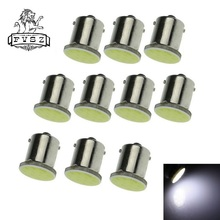 купить 10Pcs 1156  BA15S   COB  5W 6000K 310 Lumen   White Light Car Braking Lamps (DC 12V / Pair) дешево