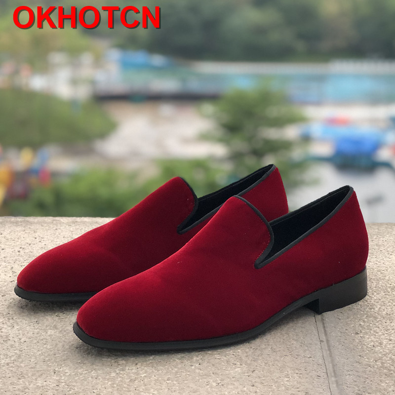 Velvet Red Men Shoes Round Toes Slip On Fashion Mens Wedding Loafers Breathable Soft Leather Shoes Men Casual Driving Shoes NewVelvet Red Men Shoes Round Toes Slip On Fashion Mens Wedding Loafers Breathable Soft Leather Shoes Men Casual Driving Shoes New