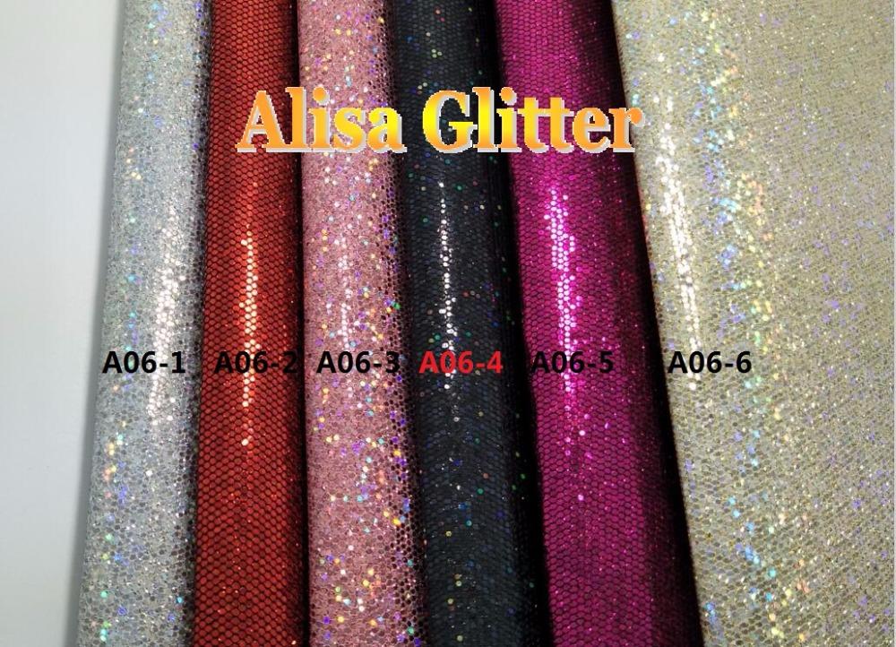 3 STKS 21X29 cm A4 SZI Alisa Glitter Laser Sterren Glitter stof Pu ... 75b6a022a5e7