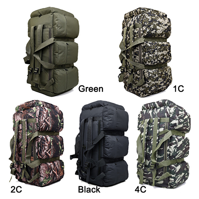 Travelo 90L Large Capacity Outdoor Military Tactical  Backpack