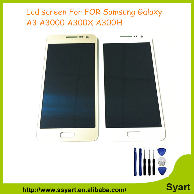 A3 Full LCD Gold 1PCS No dead pixels For Samsung Galaxy A3 SM-A300F A300FU Display Touch Digitizer touch screen digitizer DHL