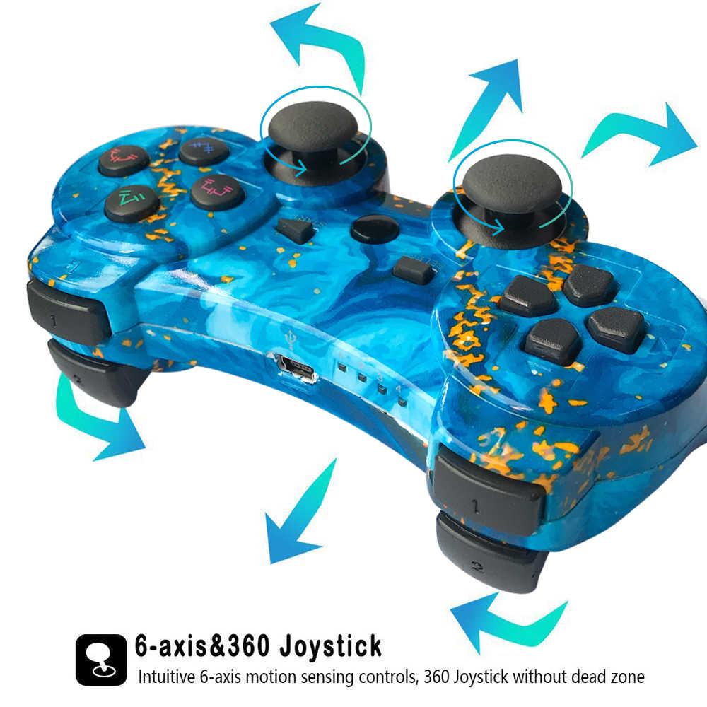 100% Baru untuk Sony PS3 Controller Wireless Bluetooth untuk PlayStation 3 Controller untuk Dualshock4 Getaran Joystick Gamepad