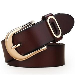 Image 2 - Cinturón de diseñador actual para mujer, cinturones de lujo de marca famosa, correa de cintura para mujer, cinturón con hebilla de cuero genuino