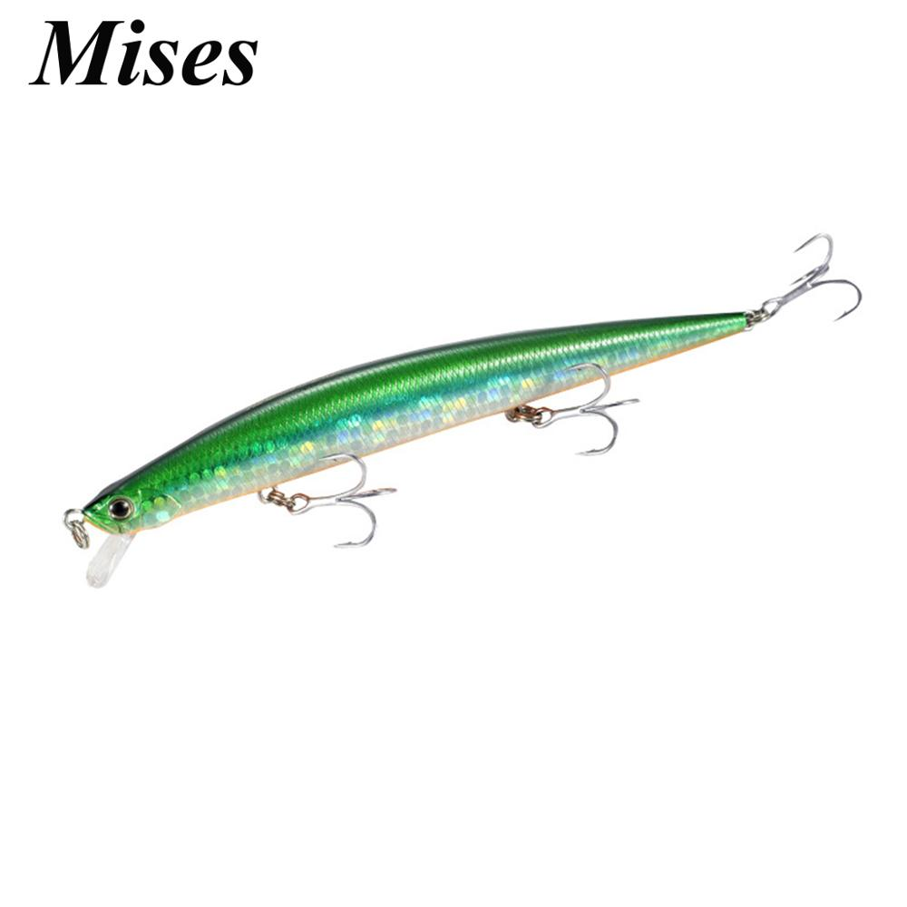 Mises 12.5cm 15g 8 Colors Floating Bionic Minnow Lure Ocean Fishing Artificial Bait Hard Bait Fishing Lure Wobbler|Fishing Lures| - AliExpress