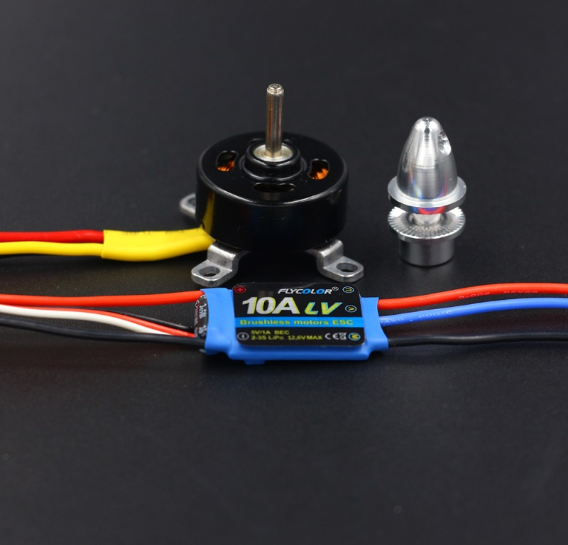 1PCS RC Helicopter 2204 Motor 1700KV Brushless Motor with 2-3S Lipo 10A ESC Electric Speed Controller for Quadcopter Spare Parts graupner hott electric air module 2 14s vario telemetry monitoring helicopter multicopter motor speed controller rc esc