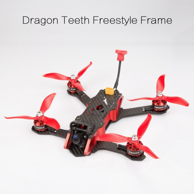 IFlight Dragón Dientes H5 220mm Freestyle Marco de Fibra de Carbono ...