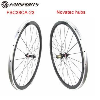 شعبية wheelsets 38 ملليمتر 50 ملليمتر 60 ملليمتر 80 ملليمتر الحافات الفاصلة العميقة ، novatec الكربون دراجات wheelsets 1680 جرام (FSC38CA-23)
