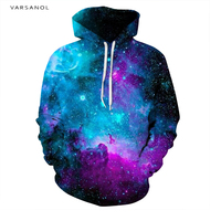 Varsanol Brand 3d Print Hoodies Mens Sweatshirt With Hat Long Sleeve Fashion Style Men Women S