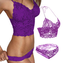 55299ba4e95 Plus Size Women Sexy Push Up Bra Lace Top Lingerie Femme Bralette  Transparent Brasier Mujer Bh Underwear Crop Top Bras For Women