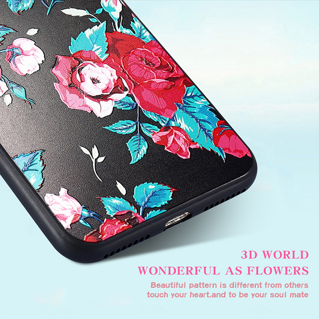 Obal pre iPhone Ruža Soft Silikón Pekný kvetinový kryt